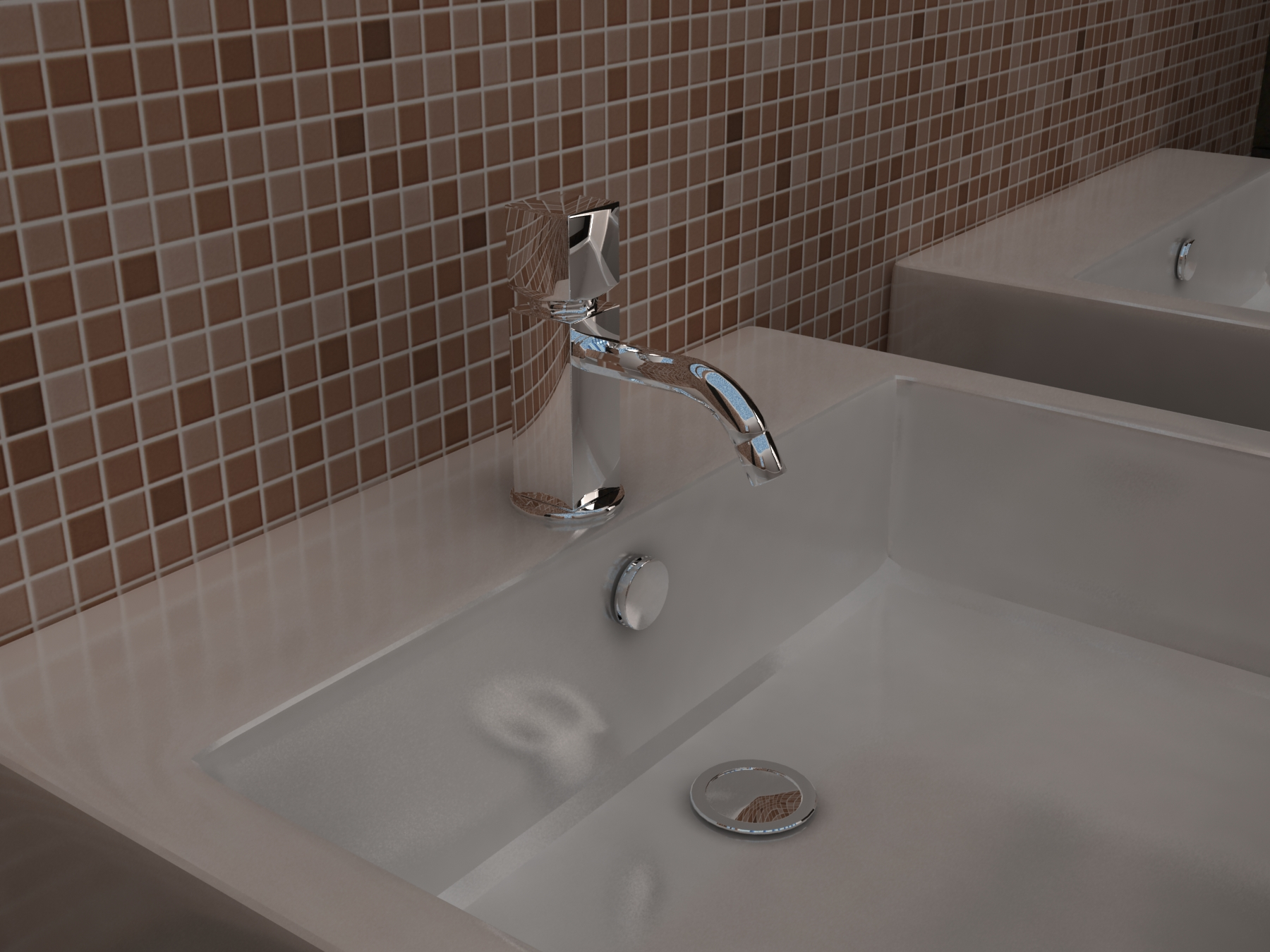 Progetto di un bagno all'interno di una villa in citt