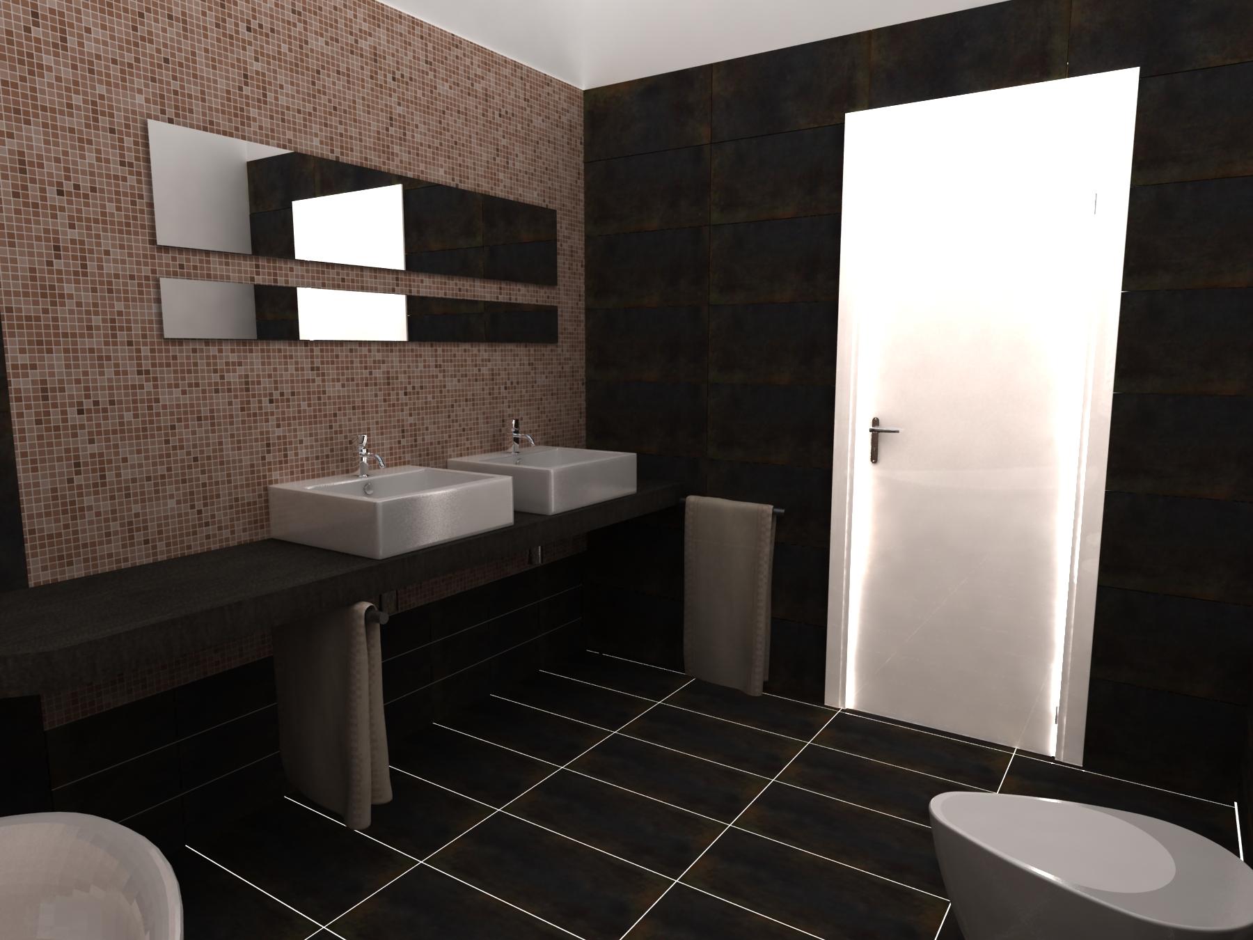 Progetto di un bagno all 39 interno di una villa in citt - Progetto accessori bagno ...